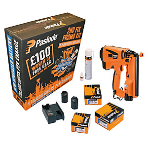 Paslode IM65 Li-ion Gas Powered Cordless Brad Nail Gun & Accessories Kit 923398