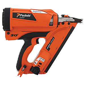 Paslode Li-ion First Fix Angled Gas Powered Cordless Framing Nail Gun IM350+