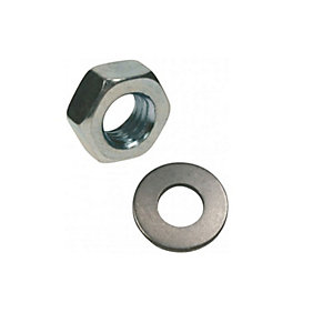 Rawl Nuts & Washers M12 Inc Plated Pack of 10