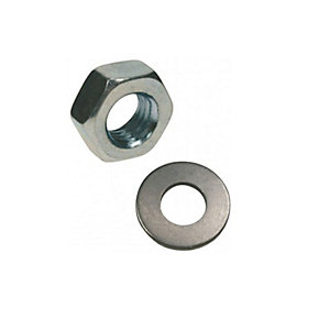 Rawl Nuts & Washers M16 Inc Plated Pack of  6