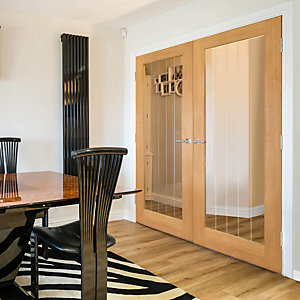 Oak Internal Prefinished Suffolk 1 Light Glazed Door