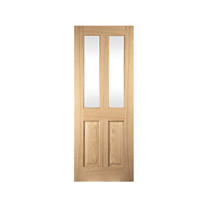 Oregon 2 Light Mackintosh Interior Amer White Oak Clear Glazed Door