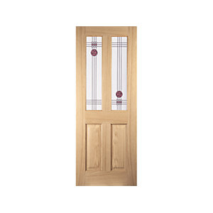 Oregon 2 Light Mackintosh Interior Amer White Oak Decorative Glazed Door