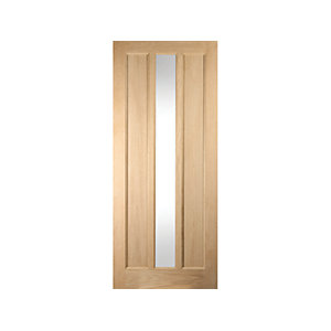Oregon 3 Panel Glazed White Oak Exterior Door