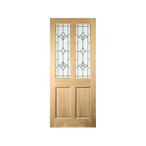 Oregon 4 Panel White Oak Exterior Door