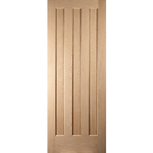 Oregon Aston 3 Panel Interior White Oak Fire Door
