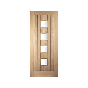 Oregon Cottage Glazed White Oak Exterior Door