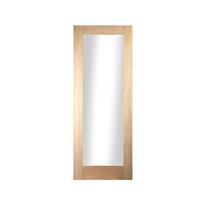 Oregon Shaker 1 Light Clear Glazed White Oak Door