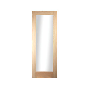Oregon Shaker 1 Light Obscure Glazed White Oak Door