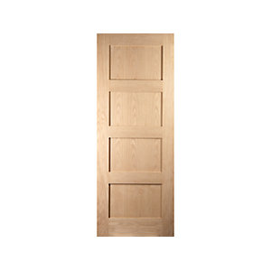 Oregon Shaker 4 Panel Interior White Oak Door