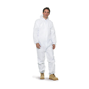 Armour Up Disposable White Coverall Large