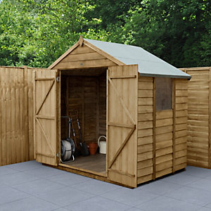Overlap Pressure Treated Apex Shed Double Door
