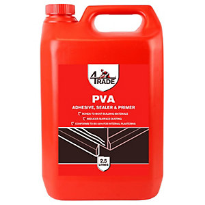 4TRADE PVA Building Adhesive, Sealer and Primer 2.5L