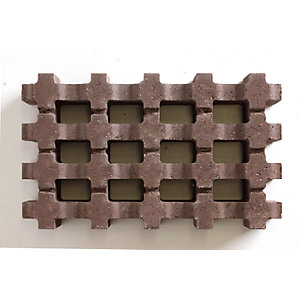 Grassguard Earth Brown Permeable Paving 500mm x 300mm x 100mm - Pack of 64 (9.6m2)