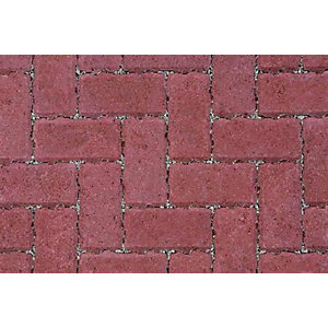 Marshalls Driveline Priora Red Permeable Block Paving 200mm x 100mm x 60mm -Pack of 404 (8.08m2)