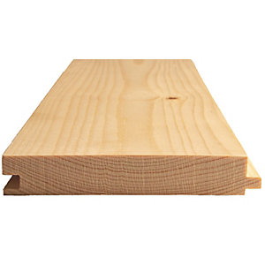 Travis Perkins Whitewood Spruce Tongue and Grooved Flooring 22mm x 125mm (Finished Size 18mm x 119mm)