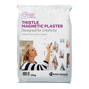 British Gypsum Thistle Magnetic Plaster 25kg - Attracts Magnets