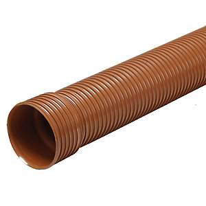 Osma UltraRib 150mm Single Socketed Pipe 3m length 6UR043