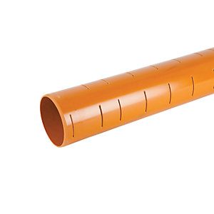 OsmaDrain Plain Ended Slotted Pipe 110mm x 6m 4D066