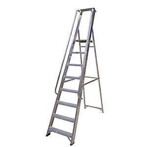 Lyte Class One 8 Tread Platform Ladder with Handrail