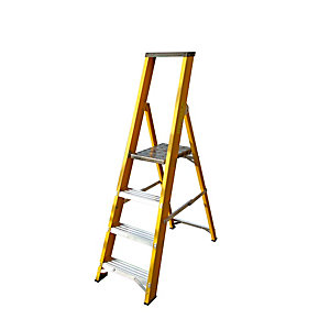 Lyte EN131 Heavy Duty Glassfibre 4 Tread Platform Ladder