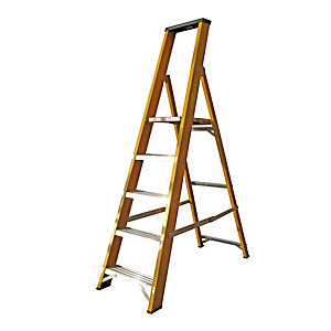 Lyte EN131 Heavy Duty Glassfibre Step 5 Tread Platform Ladder