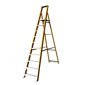 Lyte Heavy Duty Glassfibre Platform Ladder 10 Tread