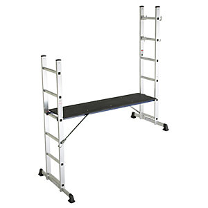 Lyte Multipurpose Aluminium 5-Way Podium Ladder