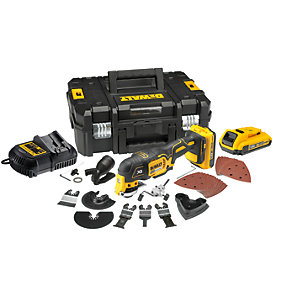 DeWalt 18V XR Cordless Oscillating Tool 2Ah Batteries DCS355D2-GB