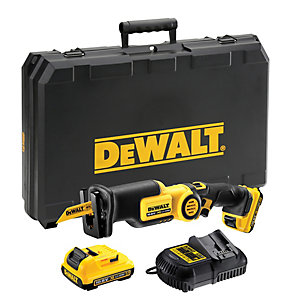 DeWalt XR 10.8V Li-Ion Subcompact Cordless Pivoting Handle Reciprocating Saw 2 X 2Ah Batteries DCS310D2-GB