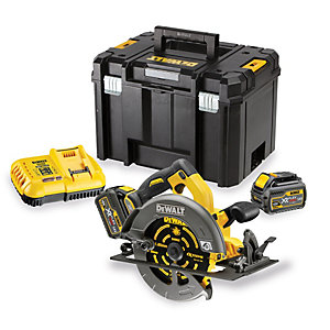 DeWalt XR 54V Cordless 190mm FLEXVOLT Brushless Circular Saw 2 X 6.0Ah Li-Ion Batteries DCS575T2-GB