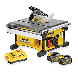 DeWalt XR 54V Cordless 210mm Li-Ion FLEXVOLT Table Saw 2 X 6.0Ah Li-Ion Batteries DCS7485T2-GB