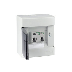 Schneider Electric EASY9 1-WAY 63A RCD Metal Shower Consumer Unit