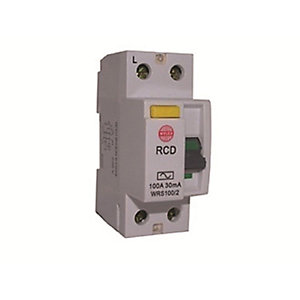 Wylex Nm/Nh Incomers Double Pole RCD 100A 30mA WRS100/2