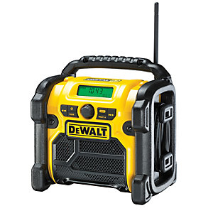 DeWalt DAB/FM 18V Cordless USB Port Site Radio DCR020