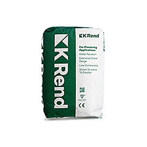 K1 Render Spray White Scraped Textured Finish