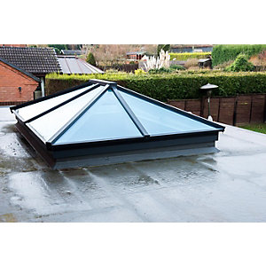Vista Contemporary Lantern Rooflight 1500mm x 2500mm (External Measurement), Black Exterior & White Interior Finish