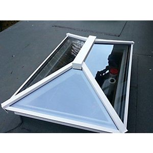 Vista Contemporary Lantern Rooflight 1500mm x 2500mm (External Measurement), Grey Exterior & White Interior Finish