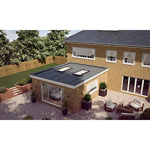 Vista Flat Rooflight 1000 x 1000mm Blackinterior / Exterior
