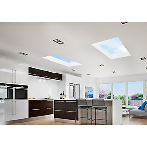 Vista Flat Rooflight 1000 x 2000mm Whiteexterior/Interior