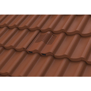 Manthorpe Castellated Tile Vent Dark Brown GTV-CS
