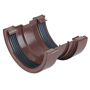 Osma RoundLine 0T009 Gutter Union 112mm Brown