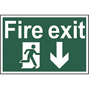 Fire Exit (Running Man with Arrow Down) (Regular) 1503