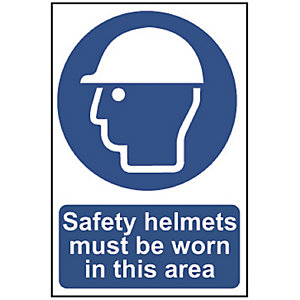 Safety Helmets Must Be Worn in      This Area (Regular) 0002