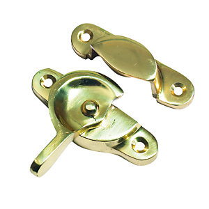 4TRADE Sash Window Fastener Electro Brass