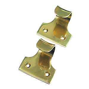 Sash Window Lift Handle Brass 50mm Pack of 2