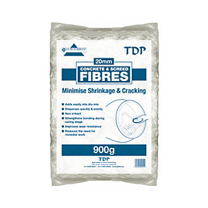 TDP 20mm Fibres For Screed and Concrete 900g