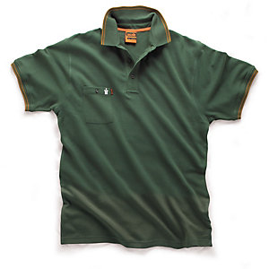 Scruffs Worker Polo Green