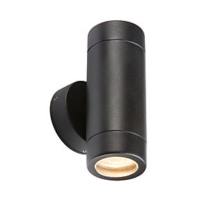 WALL2lbK Aluminium Black Powder-coated Up/Down Wall Light