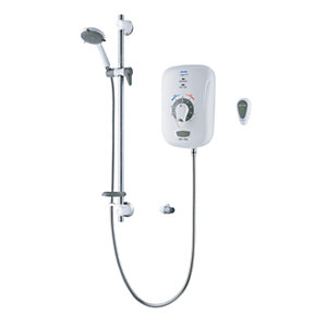 Safeguard 8.5kW Electric Shower Model CSGP08W White